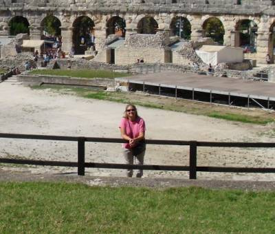 Amber in the Pula Amphitheater Croatia