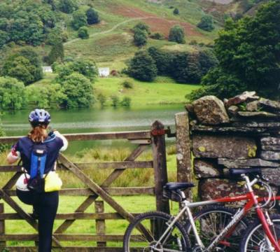 Amber in the Lake District on a bike ride