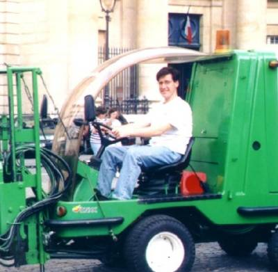 Ron on a Street Cleaner