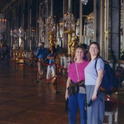 Amber and Martie in the Hall of Mirrors