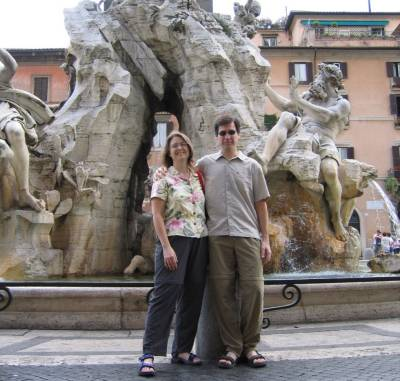 Ron and Amber in Rome