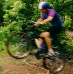 Ron riding dirt in 1991